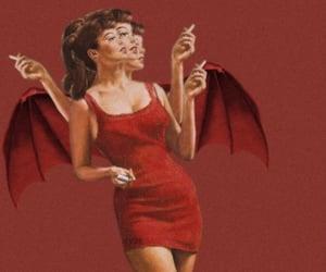 red, Devil, and vintage image