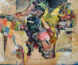 art, contemporary art, and mixedmedia image