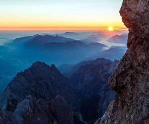 evening, Moutains, and nature image