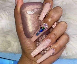 gems, glitter, and nails image