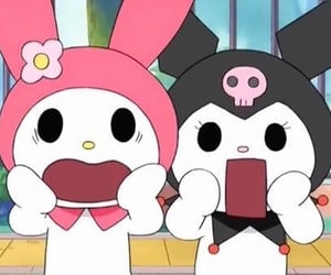 kuromi, my melody, and sanrio image