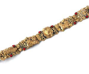 antique bracelet, egyptian revival jewelry, and sphinx bracelet image