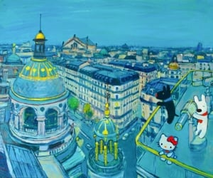 art, french art, and hello kitty image