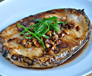 chinese food, asian food, and grilled cod fish image