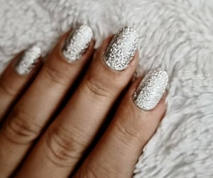 christmas, nails, and paillettes image