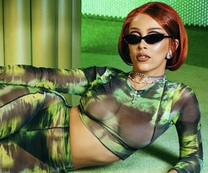 fashion, doja, and green image