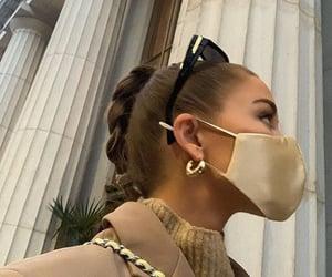 fashion, girl, and mask image