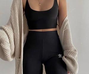leggins, top, and pants image