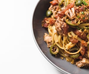 fish, pasta, and capers image