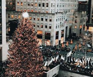 christmas tree, lights, and christmas image