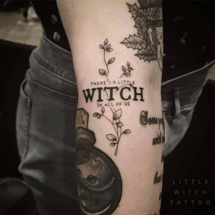 tattoo, background, and witch image