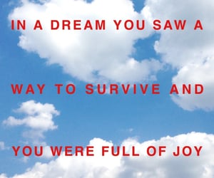 clouds, red, and text image