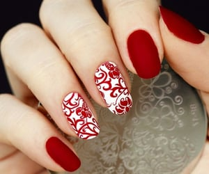 couple, winter, and nails image