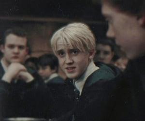 draco malfoy, hogwarts, and tom felton image