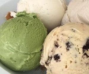 food, ice cream, and green image