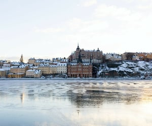 city, sweden, and cold image