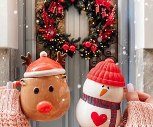 christmas, holiday, and snowman image