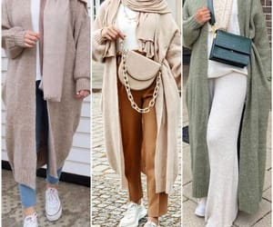 hijab and cardigan sweater jacket image