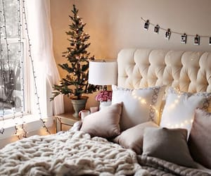 christmas, bedroom, and home image