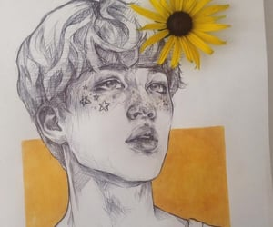 art, drawing, and bts image