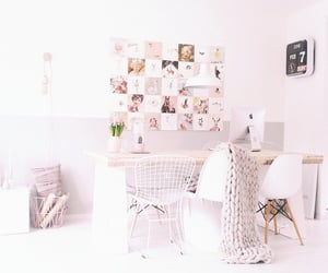 white aesthetic and white office image