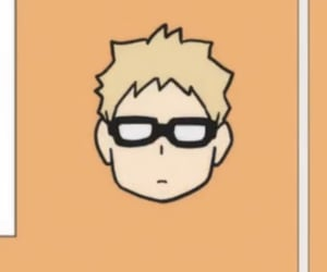 anime, tsukishima, and karasuno image