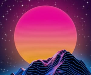 aesthetic, vaporwave, and neon image