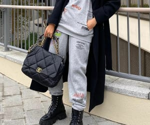 black coat, blogger, and chanel image