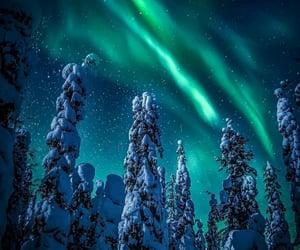 aurora boreal, hielo, and belleza image