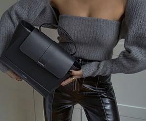 sweater, fashion, and handbag image