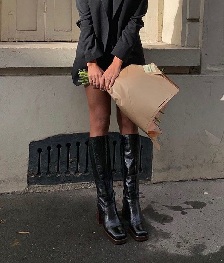 street style, classy glam, and simple casual image