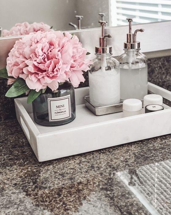 bathroom and flowers image
