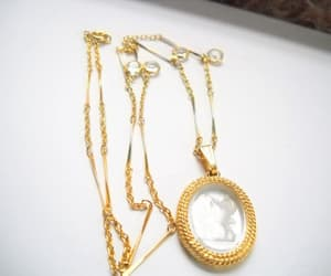 etsy, vintage necklace, and vintage cameo image