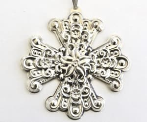 christmas ornaments, cross jewelry, and etsy image