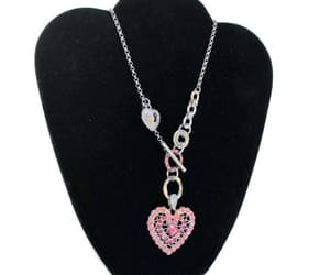 asymmetrical, etsy, and heart necklace image