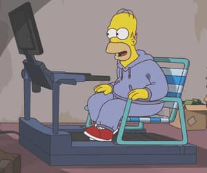 athlete, funny, and homer simpson image