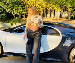 kylie jenner, blonde, and cars image