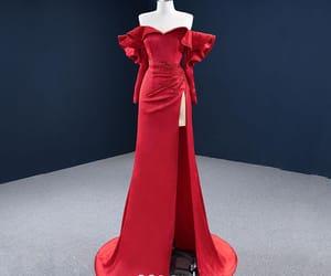evening dress, girl, and long dress image