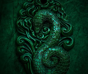 slytherin, snake, and green image