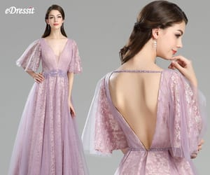fairy dress, v-cut, and quinceanera dress image