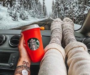starbucks, cozy, and winter image