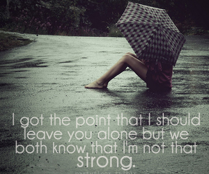 strong, rain, and text image