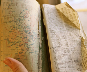 map, vintage, and book image