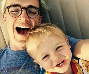 father and son, smile, and fletcher image