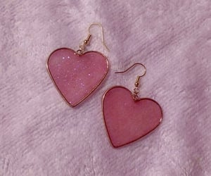 earrings, fashion, and heart image