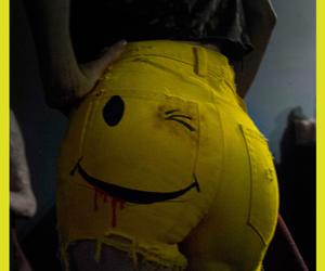 yellow, shorts, and smile image