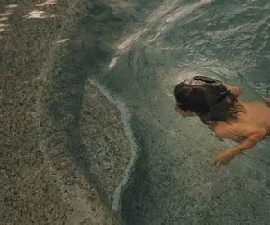 dive, girls, and ocean image