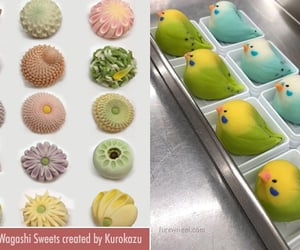 japanese sweets, sweets, and wagashi sweets image