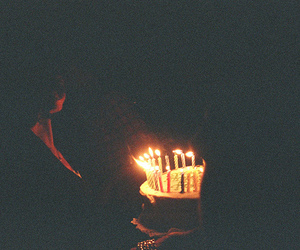 cake, light, and birthday image