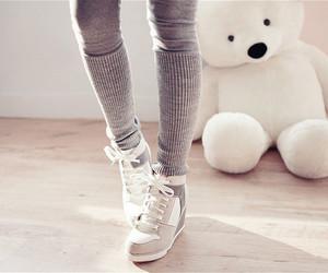 fashion, shoes, and bear image